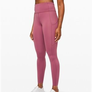 """Lululemon Fast and Free High-Rise Tight 28""""  Nulux"""